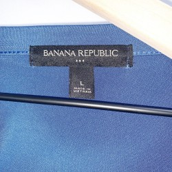 Banana Republic Blue Short Sleeve Top Size Large