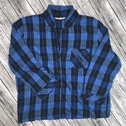 Victoria's Secret Blue and Black Pajama Top Sz XL/TG