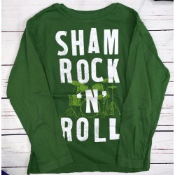 Boys Long Sleeve Green Shirt Sz M 7-8