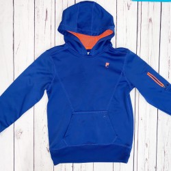 Boys Blue and Orange Hoodie Sz M 10-12