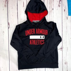 Black and Red Underarmour Hoodie Sz YMD/JM/M
