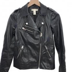 H&M Black Motto Jacket Size 2