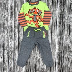 Boys Matching Monkey Outfit Sz 3T