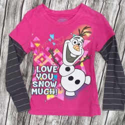 Girls Pink Frozen long sleeve Sz XS 4/5