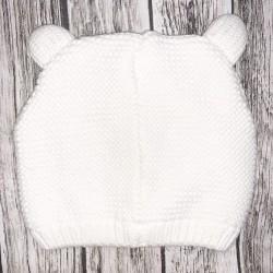 White Bear Hat Sz 12-24M