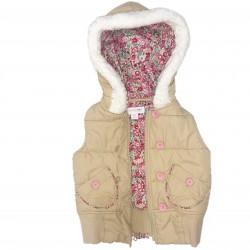Girls Vest Tan Pink Sz 18 Months