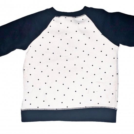 Black and White Girls Polkadot Sweatshirt Sz 18M