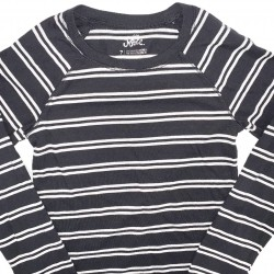 Basic Girls Long Sleeve Stripe Justice Top Sz 7