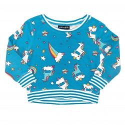 Blue Unicorn Rainbow Long Sleeve Shirt Sz 2T