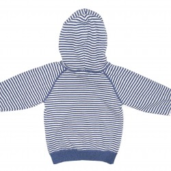 Boys Blue and White Stripe Hoodie 2-4Years