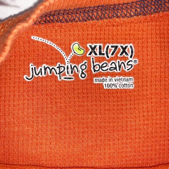 Orange Long Sleeve Boys Top Sz 7X