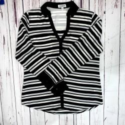 Express Black and White Stripe Button Down Size Medium
