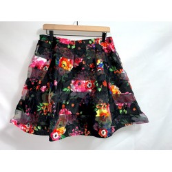 Black Floral Skirt Size 13