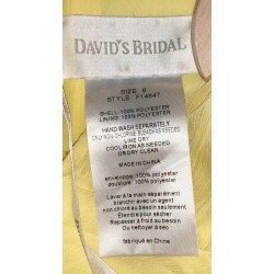 David's Bridal Strapless Bridesmaid Dress Sz 8