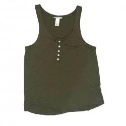 H&M Basic Tank Top Green Size XS