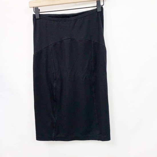 H&M MAMA Black Maternity Pencil Skirt Sz S