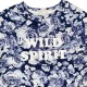 H and M Girls Blue Long Sleeve Top Sz 6-8Y