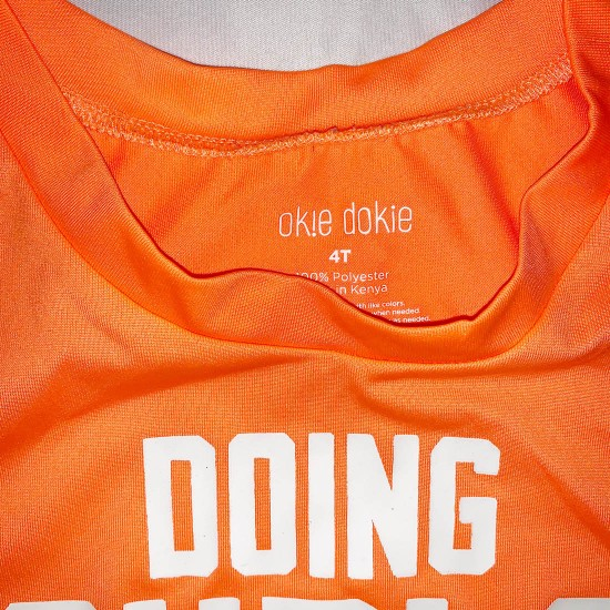 Orange Sleeveless Graphic Shirt Size 4T