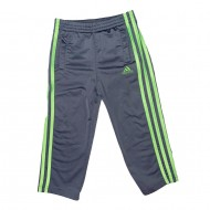 Gray and Green Adidas Pants Size 3T
