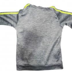 Boys Gray and Yellow Adidas Jacket Sz 7X