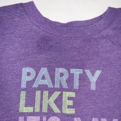 Birthday Graphic Tee Shirt Purple Size 2T