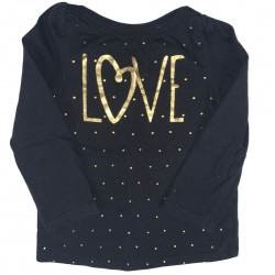 Black and gold long sleeve top Sz 18M