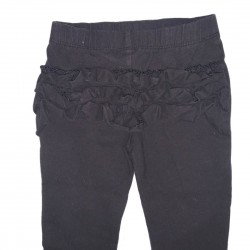 Black Ruffle-Bottom Pants Sz 24M