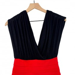 Sleeveless Black and Red Dress Size Small
