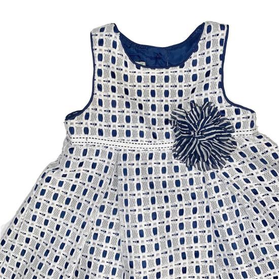 Marmellata Blue and White Dress Sz 18M