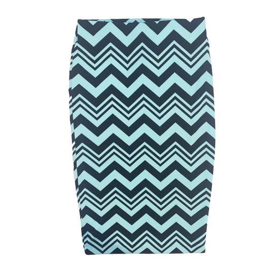 Blue and Black Chevron Pencil Skirt Size Small