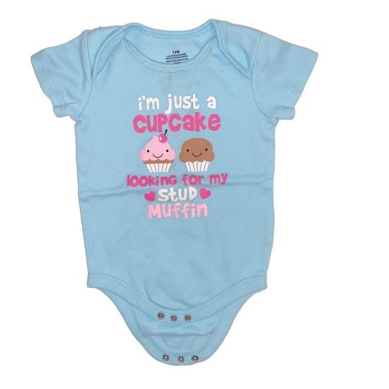Blue Cupcake Onesie Size 12 M