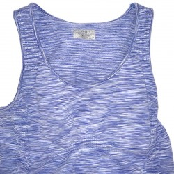 Athleta Blue Sleeveless Workout Shirt Sz M