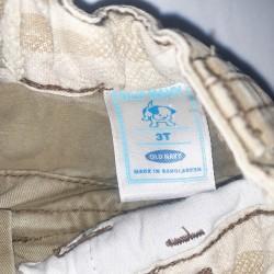 Old Navy Khaki Cut Off Shorts Sz 3T