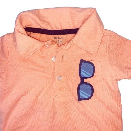 Orange Onesie Short Sleeves Sz 12M