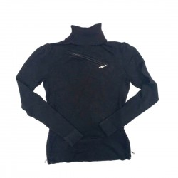 Cache Black Turtleneck Sweater Sz XS