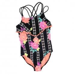 Girls Black One-Piece Bathing Suit Size 7-8