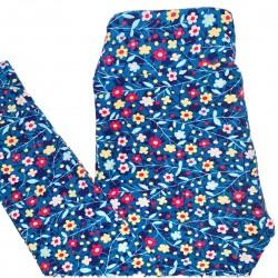 Blue Flower Leggings One Size