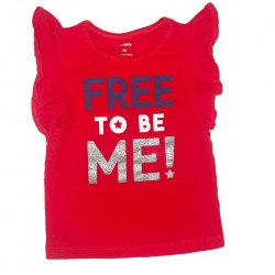 Red Sleeveless Top Size 2T