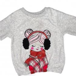 Toddler Sweatshirt Gray Girls Size 3T