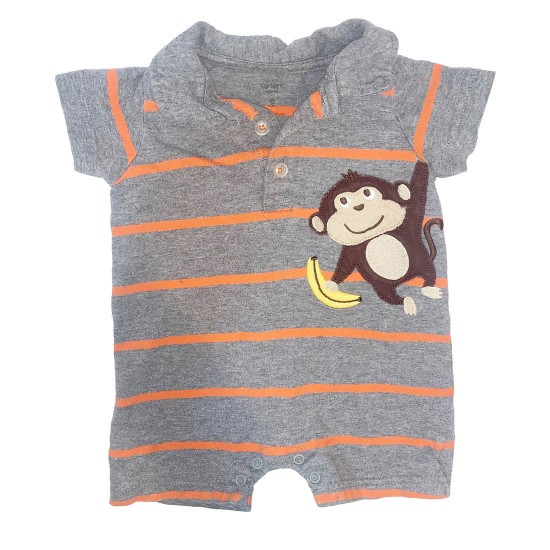 Boys Monkey Onesie Size 6M