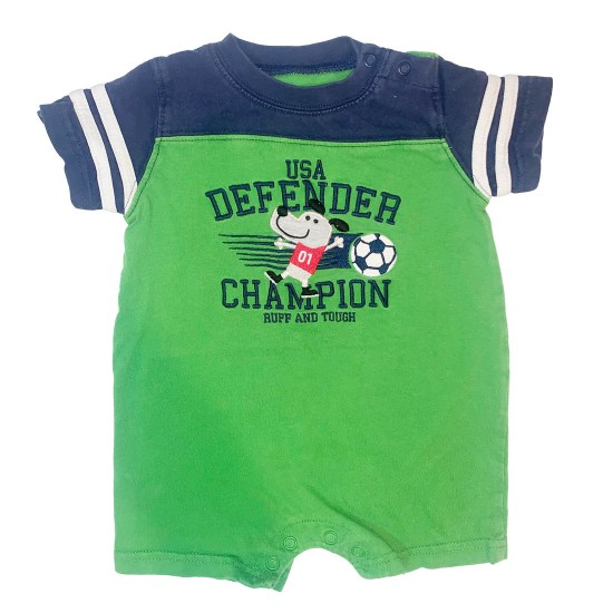 Boys Green Onesie Outfit Size 6M