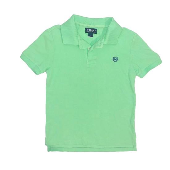 Chaps Green Boys Polo Sz 7