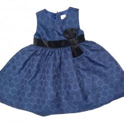 Gymboree Blue Polkadot Shimmer Dress Sz 2T