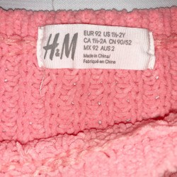 H&M Toddler Sweater Coral Sz 1.5-2 Years
