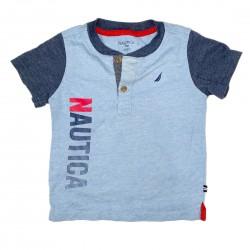 Nautica Boys Short Sleeve Shirt Sz 24 Mo
