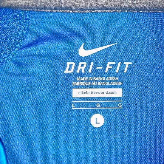 Boys Blue Nike Dri-Fit Shirt Sz Large