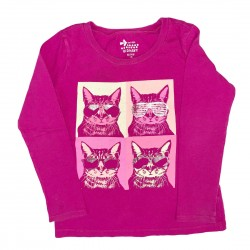 Pink long sleeve old navy cat shirt Sz XS (5)
