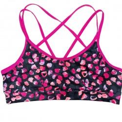 Sports Bra Girls Pink and Black Sz 14