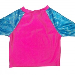 OP Pink and Blue Swim Shirt Rash Guard 2T