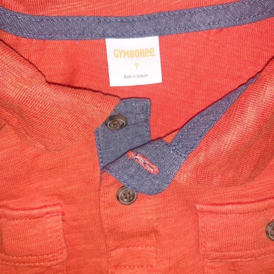 Gymboree Orange Boys Polo Shirt Size 7